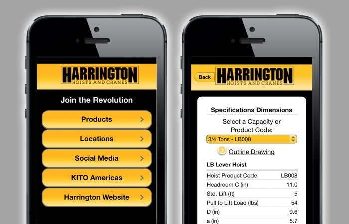 Harrington Hoists Mobile App